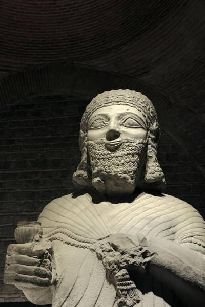 Eastern Anatolia Photograph - Limestone Statue Of King Mutallu From Aslantepe 1200-700 Bc. Turkey by David Lyons