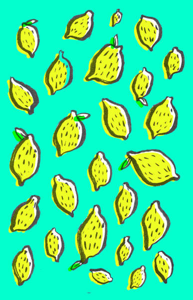 Fruit Drawing - Limones De Primavera by Studio Sananikone