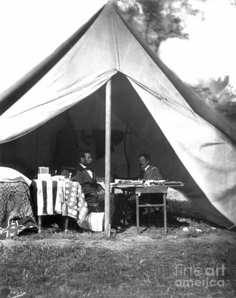 Antietam Photograph - Lincoln & Mcclellan by Granger