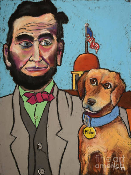Capitol Drawing - Lincoln And Fido by David Hinds