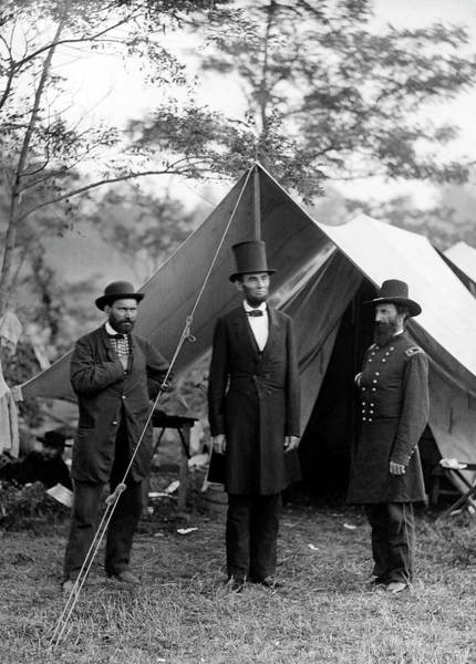 Antietam Photograph - Lincoln At Antietam Battle  1862 by Daniel Hagerman