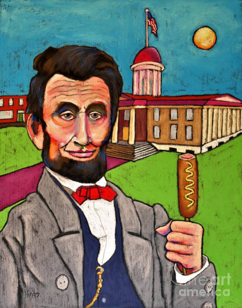 Springfield Illinois Wall Art - Painting - Lincoln At The Capitol by David Hinds