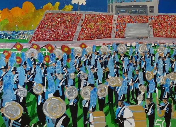 Marching Band Painting - Lincoln Band by Rodger Ellingson