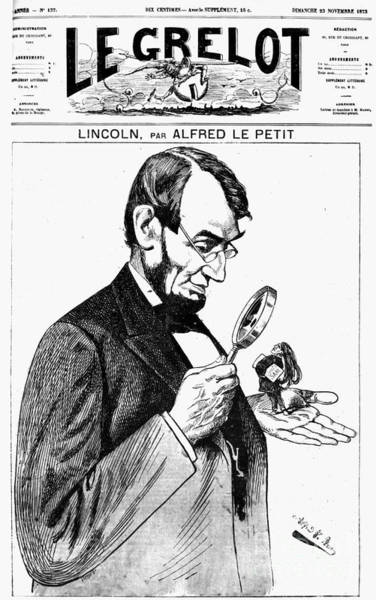 Photograph - Lincoln Cartoon, 1873 by Granger