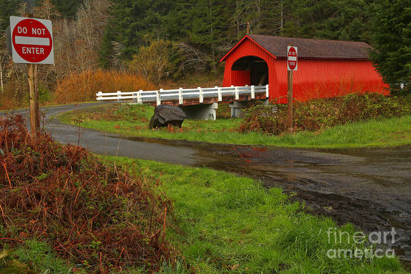 Photograph - Lincoln County Fisher Covered Bridge by Adam Jewell