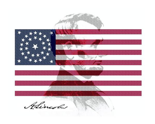 Photograph - Lincoln Flag by John Feiser