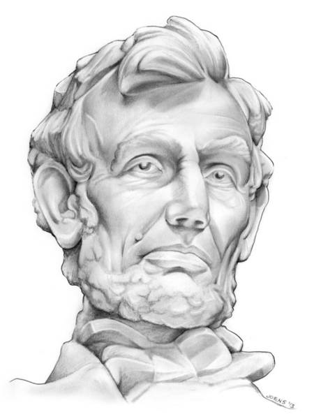 Statues Wall Art - Drawing - Lincoln by Greg Joens