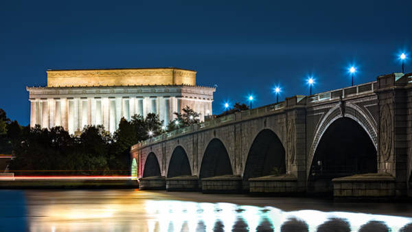 Photograph - Lincoln Memorial And Arlington Bridge by Mihai Andritoiu