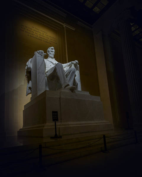 Photograph - Lincoln Memorial At Night In Washington Dc by Art Whitton