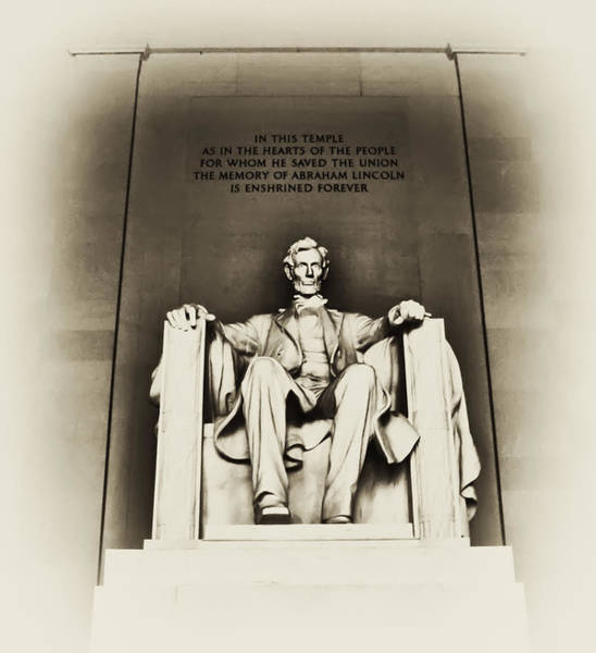 Wall Art - Photograph - Lincoln Memorial by Bill Cannon