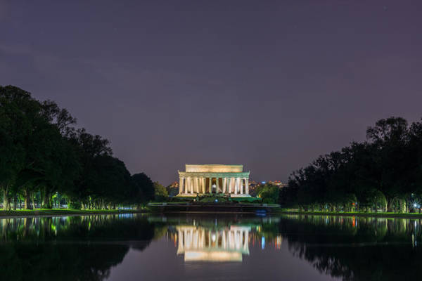 Photograph - Lincoln Memorial  by Chris Bordeleau