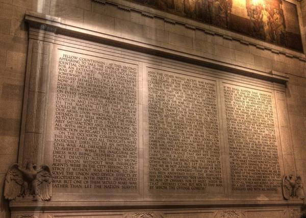 Photograph - Lincoln Memorial Interior Washington Dc by John King