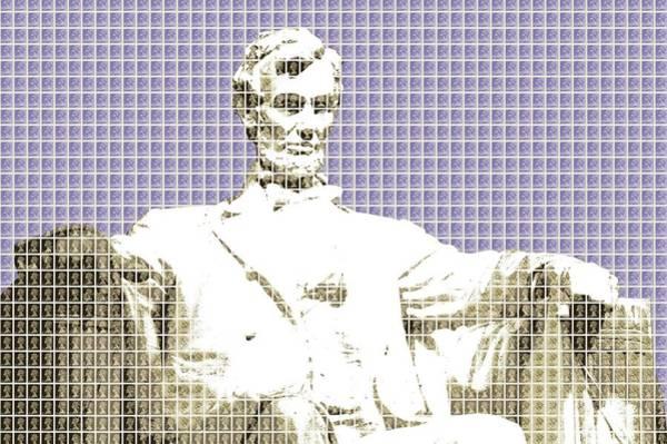 Us Civil War Digital Art - Lincoln Memorial - Violet by Gary Hogben
