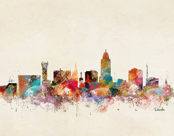 Wall Art - Painting - Lincoln Nebraska  by Bri Buckley