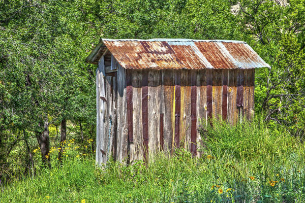 Photograph - Lincoln Outhouse by SR Green