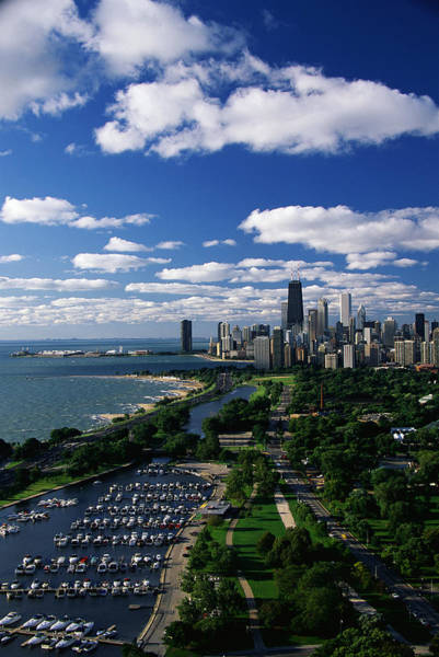 Daylight Photograph - Lincoln Park And Diversey Harbor by Panoramic Images
