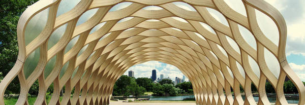 Art Print featuring the photograph Lincoln Park Zoo Nature Boardwalk Panorama by Kyle Hanson