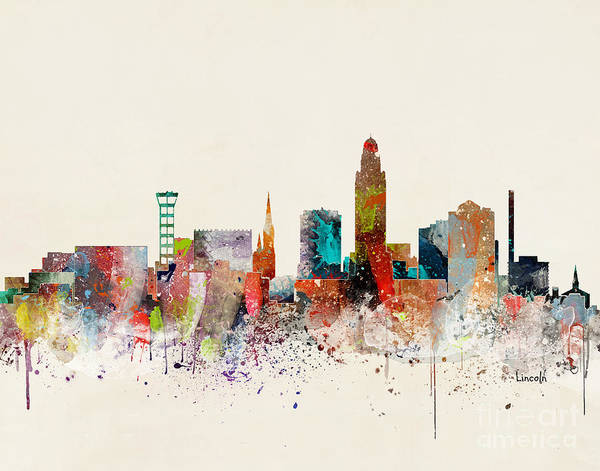 Wall Art - Painting - Lincoln Skyline by Bri Buckley