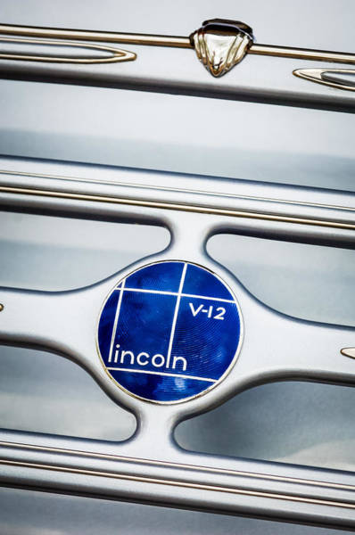Photograph - Lincoln V12 Emblem by Jill Reger