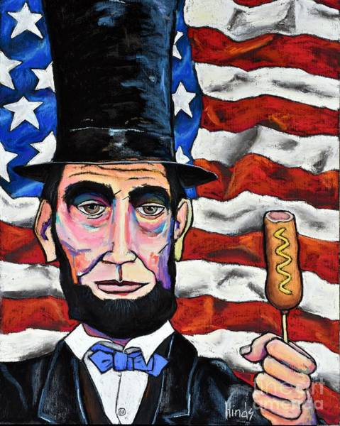 Honest Painting - Lincoln's Corndog- 2 by David Hinds