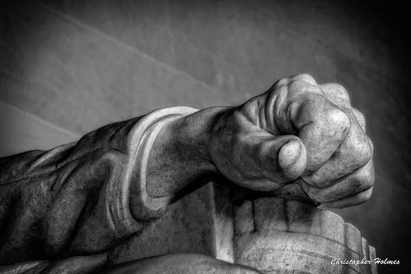 Photograph - Lincoln's Left Hand B-w by Christopher Holmes