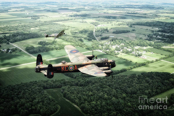 Wall Art - Digital Art - Lincolnshire Warbirds by J Biggadike