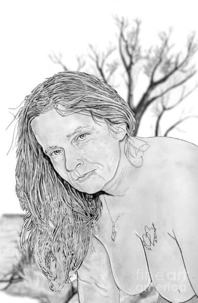 Drawing - Linda by Bill Richards