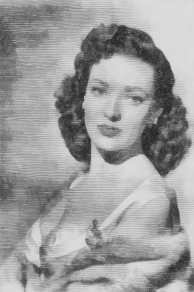 Pinewood Drawing - Linda Darnell, Actor by John Springfield