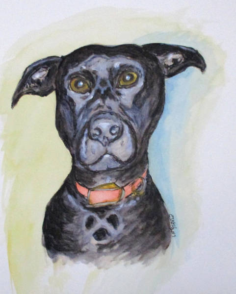 Painting - Linda's Doggie by Clyde J Kell