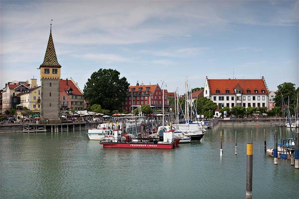 Photograph - Lindau Harbor 2 by Tatiana Travelways