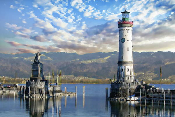 Photograph - Lindau Harbor by Anthony Dezenzio