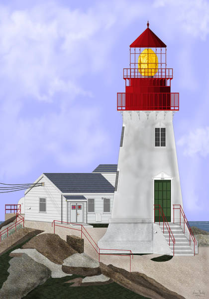 Wall Art - Painting - Lindesnes Norway Lighthouse by Anne Norskog