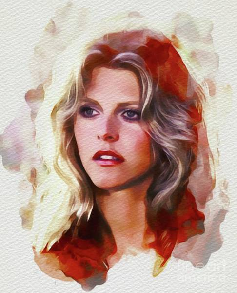 Wall Art - Painting - Lindsay Wagner, Actress by John Springfield