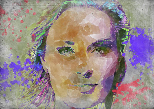 Wall Art - Photograph - Lindsey Vonn Watercolor by Ricky Barnard
