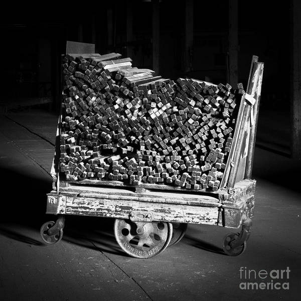 Photograph - Lineberry Factory Cart 1 Bw by Patrick M Lynch