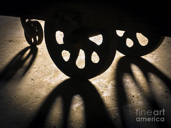 Photograph - Lineberry Factory Cart Wheels C by Patrick M Lynch