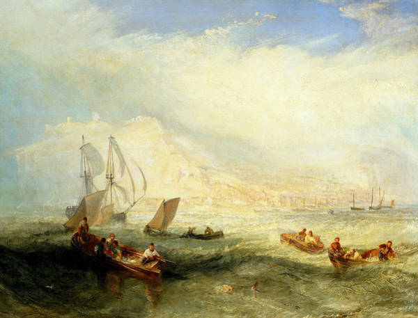 Painting - Line Fishing, Off Hastings by Joseph Mallord William Turner