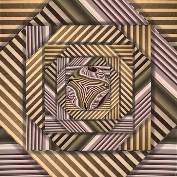 Distortions Digital Art - Line Geometry by Ron Bissett