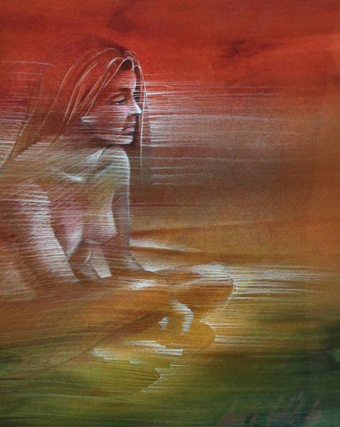 Drawing - Line Nude 1977 by Glenn Bautista