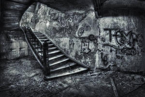 Urbex Wall Art - Photograph - Line Of Descent by Evelina Kremsdorf