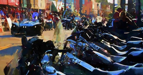 Daytona Bike Week Wall Art - Photograph - Line Up by Alice Gipson