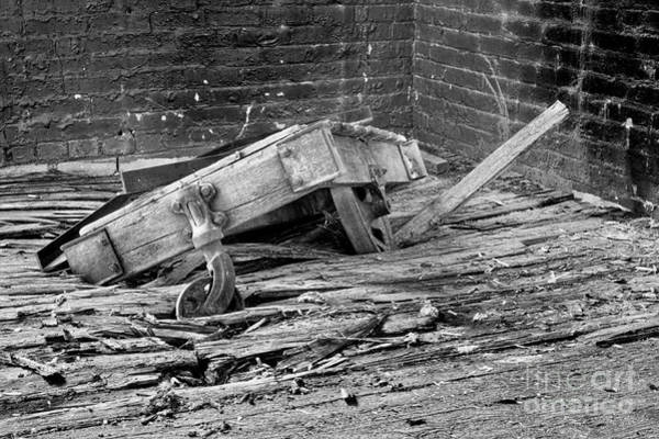 Photograph - Lineberry Factory Cart 3 Bw by Patrick M Lynch