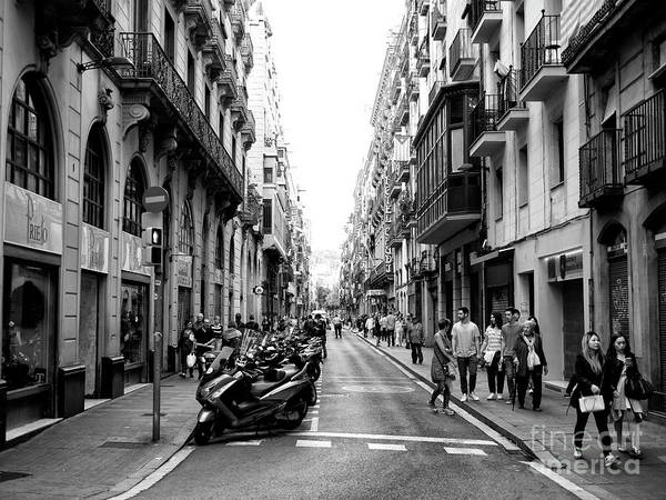 Photograph - Lined Up In Barcelona by John Rizzuto