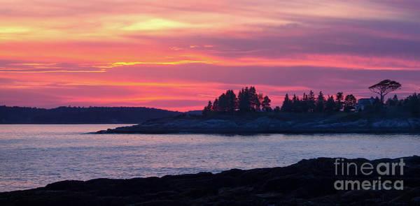 Photograph - Linekin Bay Sunset, East Boothbay, Maine  -23146-23148 by John Bald