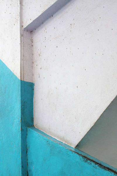 Photograph - Lines And Blue Paint by Prakash Ghai