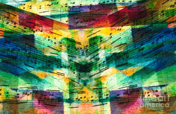 Art Print featuring the digital art Lines And Spaces by Lon Chaffin
