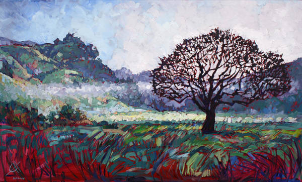 California Wine Country Painting - Lines Of Mist by Erin Hanson