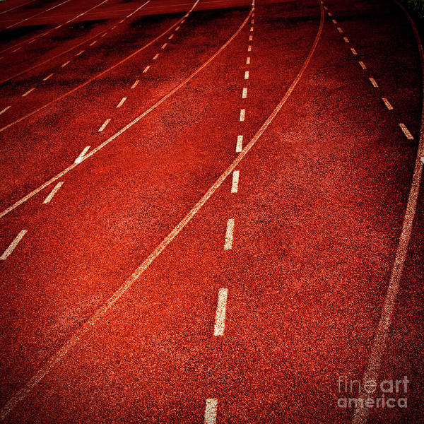 Wall Art - Photograph - Lines Of Stadium by Bernard Jaubert