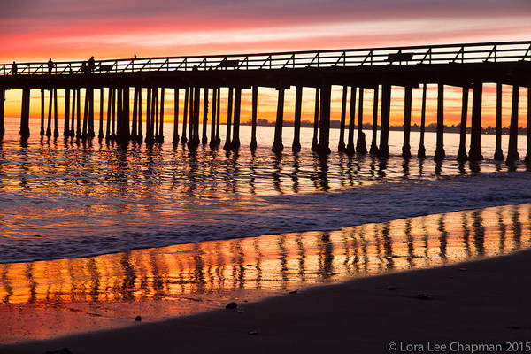 Sunset Seacliff Shadows Art Print