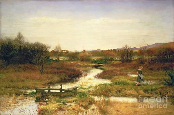 Millais Painting - Lingering Autumn by Sir John Everett Millais